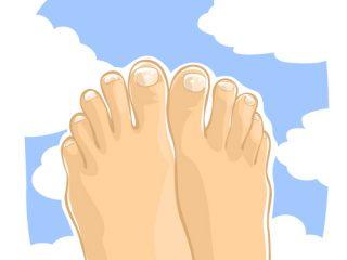 きれいな足と青空